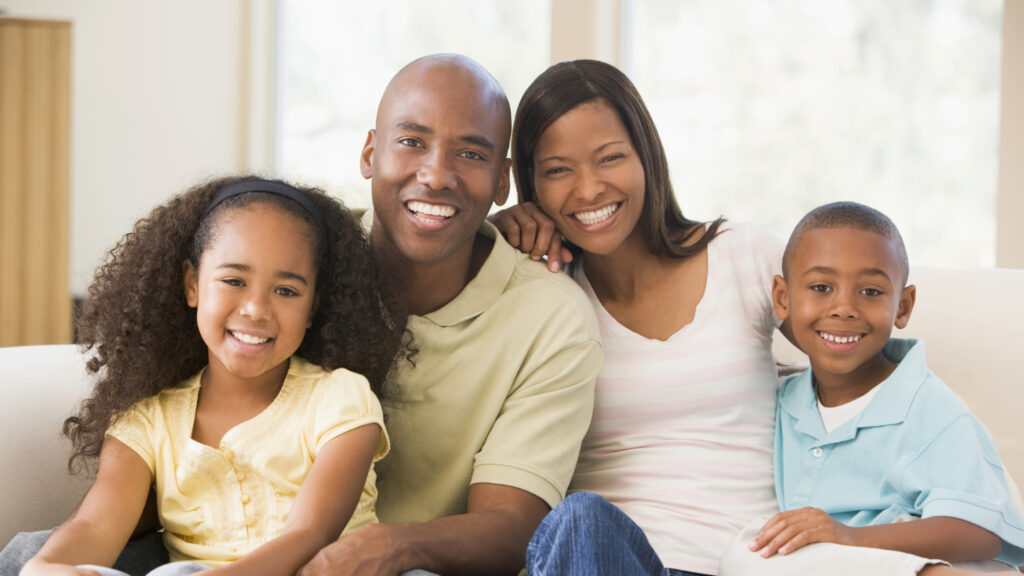 A Young African American Family